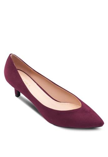 ZALORA 紅色 尖頭低跟鞋 6495FSH3EAA974GS_1