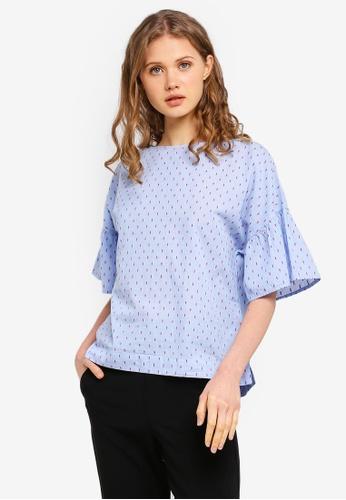 ESPRIT blue Dotted Short Sleeve Blouse A5DA7AA1828ABCGS_1