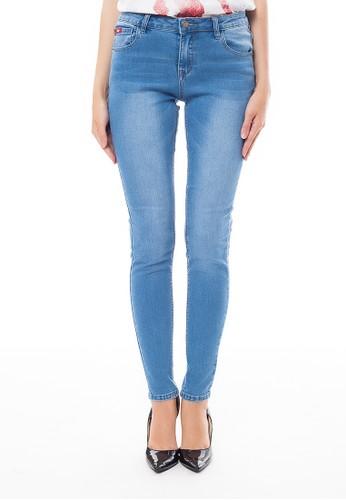 Lee Cooper blue Lee Cooper Women s PEARL CURVY Skinny Jeans enzyme bleach  BDF8AAA1BB8AE4GS 1 b1d5ccf622