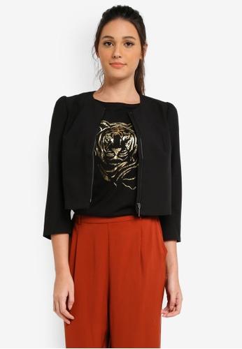 Esprit black Indoor Woven Short Jacket ES374AA0SJQLMY_1