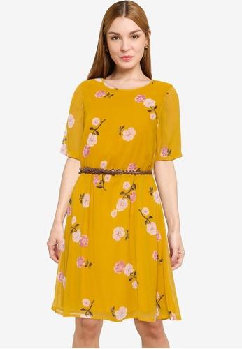 Vero Moda orange Fallie Belt Dress Exp Ga BDC38AAA409BD3GS_1