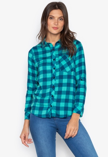 f86b42b4af4 Shop BNY Plaid Button Down Shirt Online on ZALORA Philippines