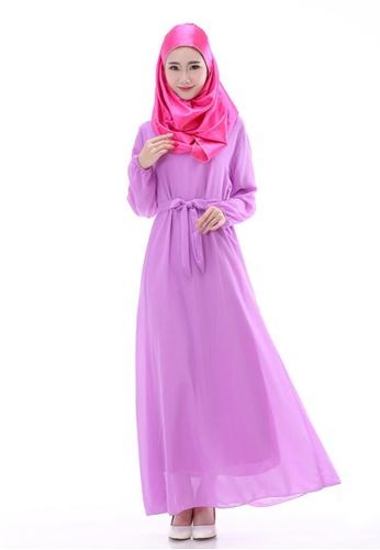 SMROCCO purple Muslimah Purple Basic Jubah Dress MW6012-P SM066AA32NHBMY 1 23d128101d
