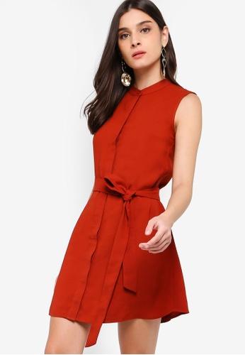 ZALORA orange Button Down Detail Dress 70A6EAA762DB1AGS_1