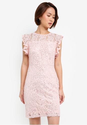 e43967f3e64 Buy Dorothy Perkins Petite Blush Sequin Lace Dress Online on ZALORA ...
