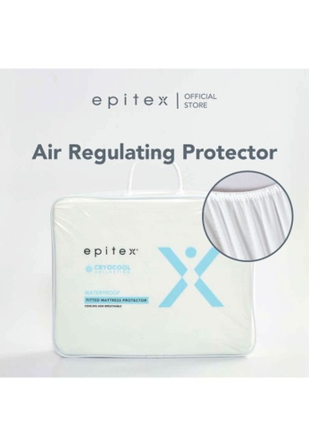 Epitex white Epitex Cooling Waterproof Mattress Protector (4 Sizes) 1F435HLE383005GS_1