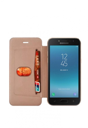 MobileHub pink Ultra Clear Slim Case with Flip Cover for Samsung Galaxy J2 Pro (2018) 40336AC472431CGS_1
