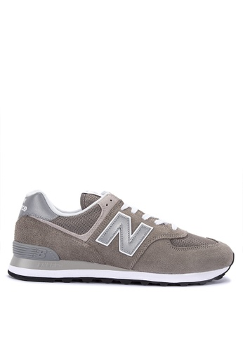 New Balance grey 574 Evergreen Lifestyle Shoes 98505SH4D5A507GS_1