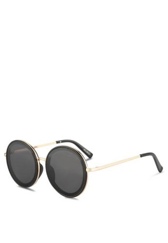 49bf6c9f20 ALDO black Lerch Sunglasses Round 4B209GL653DEC3GS 1