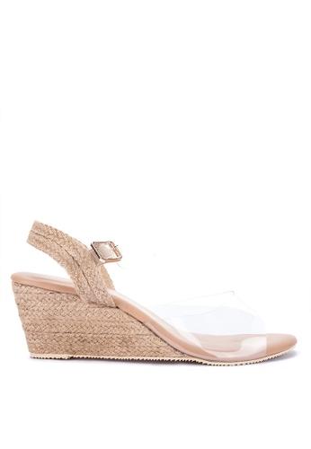 S&H brown Oralie Wedge Sandals 1C6A9SH42F6FEBGS_1