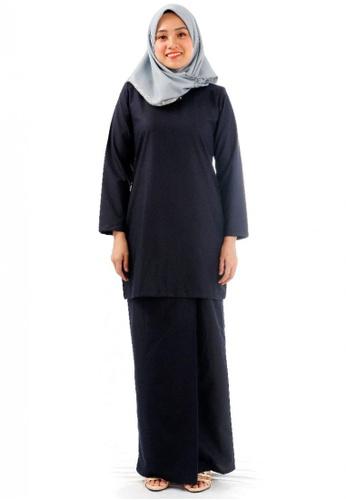 KAMDAR blue Aysha Salma Kurung Modern-Dark Blue FC4F7AAB5AF9D9GS_1