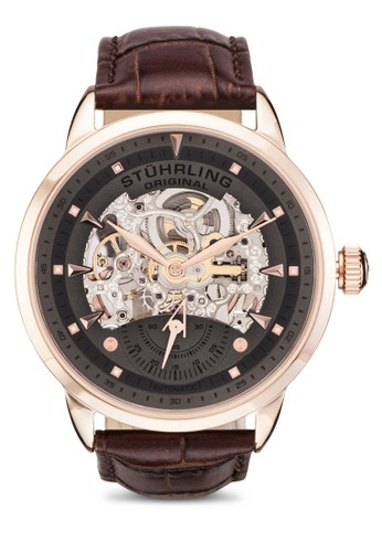 Executivzalora 折扣碼e 鏤空皮革帶圓錶, 錶類, 飾品配件