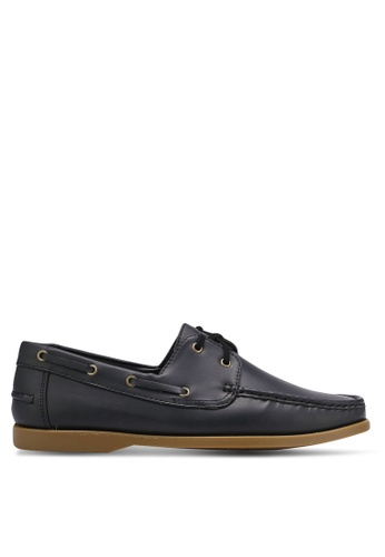 ZALORA black Essential Faux Leather Boat Shoes 69F40SH3C16A3FGS_1