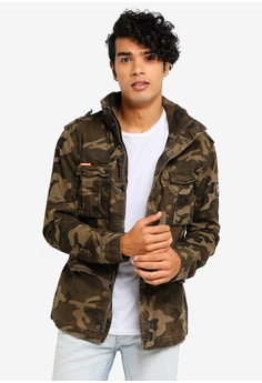 06a37d787fc Superdry green and multi Classic Rookie Military Jacket D497BAA50241D7GS 1