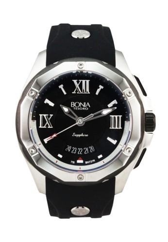 Bonia B737-1333R Jam Tangan Pria Black Silver