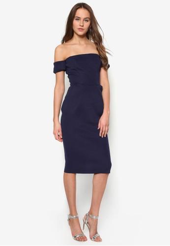 暗紋露肩貼身洋裝, 服飾, 派esprit outlet hong kong對洋裝