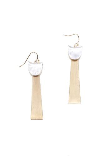 LUCCACAL gold Morris Geometric Drop Earrings 19766ACE7D158FGS_1