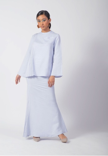 SUEKA SUEKA Cloud Kurung Set in Light Blue from SUEKA SUEKA in Blue