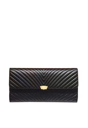 Twenty Eight Shoes black VANSA Top Layer Cowhide Bi-Fold  Long Wallet VBW-Wt009L 90726AC8951F96GS_1