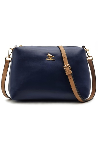Polo Hill blue Polo Hill Two Toned Sling Bag D8FE6AC8EA4337GS_1