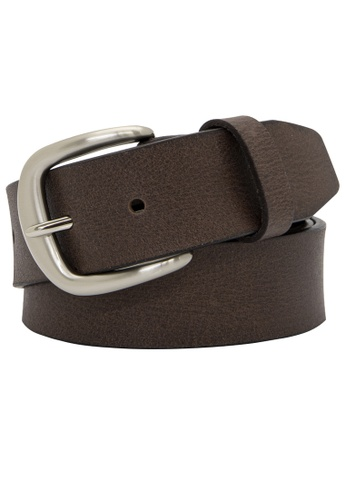 Buckle brown Chad Leather Belt 9484BAC912E37AGS_1
