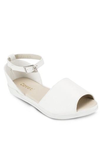 露趾厚底平底涼鞋, 女esprit官網鞋, 涼鞋