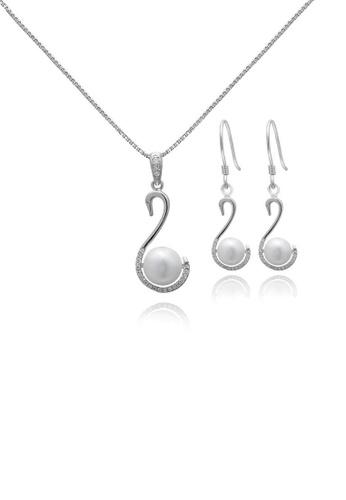 ADORA white Silver Pearl Swan Set 924BEACF46E770GS_1