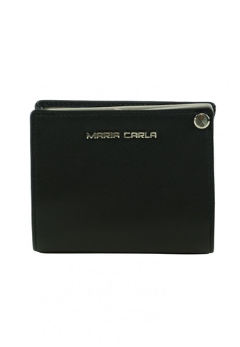 Maria Carla black Maria Carla -  Modern design cow leather card holder 48E51AC772B168GS_1