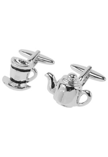CUFF IT black Teapot & Cup Cufflinks CU047AC2VGL7HK_1