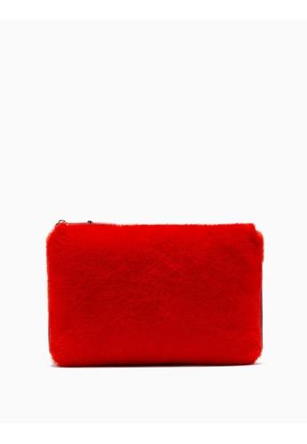 Calvin Klein red Furry Crossbody Bag 0D8E3AC27AD633GS_1