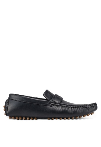 UniqTee 黑色 Casual Loafers With Strap 2A79CSHA00FE55GS_1