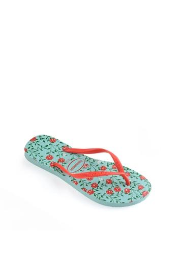 Havaianas blue Slim Romance Flip Flops 0E641SH45068DDGS_1