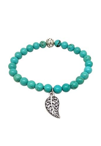 Fur Nyce green Turquoise Beaded Bracelet 68DE6AC185AC8EGS_1