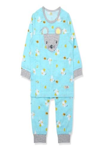 Organic mom blue Organic Cotton Kenny Mouse Lightweight Long Sleeves Pjs 4B5F3KA8594BA3GS_1