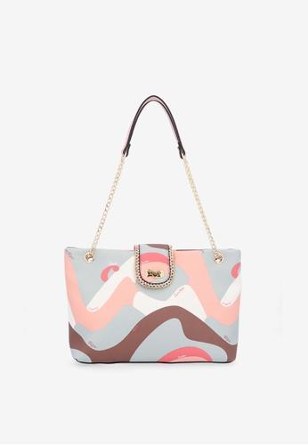 Carlo Rino pink Pink Good Times With Print Tote Bag F2FE3ACFA75BF1GS_1