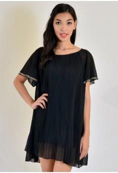 Midi Electric Pleats Dress