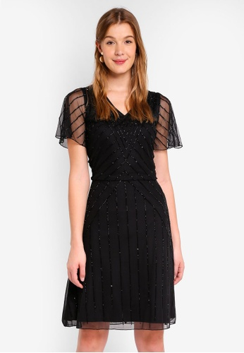 Frock and Frill black Embellished Dress 10013AA0EAE847GS_1