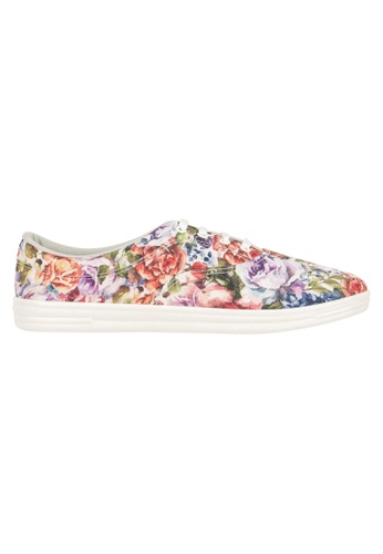 Beira Rio multi Floral Print Lace Up Sneakers BE995SH14ERDHK_1