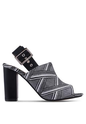 ZALORA black Detail Fabric Mule Heels 39E4DSH78DE2EEGS_1