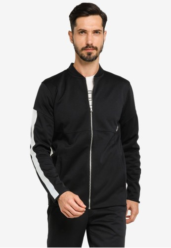 Under Armour black Recover Knit Warm Up Jacket 3876FAAB4102D2GS_1