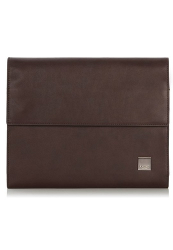 "knomo brown Knomad Air 10"" Premium Leather Portable Organiser (Brown) 7C712AC55153C9GS_1"