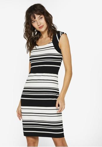 2f6f85eafb860d ESPRIT black Jersey Sheath Dress 3559EAA662F86BGS 1