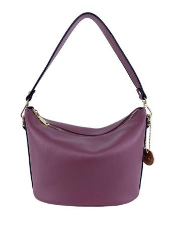 Mel&Co pink Soft Basic Shoulder Sling Bag A83FAACA222089GS_1