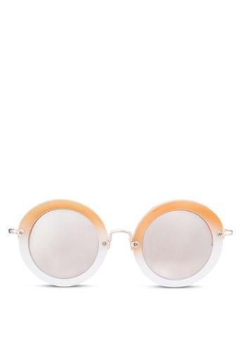 Suki 復古圓框太陽眼鏡, 飾品配件, zalora退貨復古框