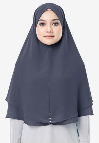 UMMA 灰色 Hayyan Khimar Hijab 33C24AAC28BA0CGS_1