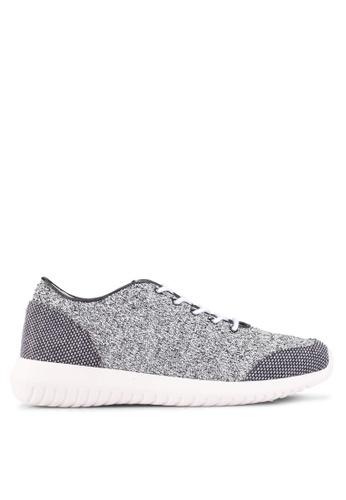 ZALORA grey Knit Sneakers A6FF0SH8B83EDFGS_1