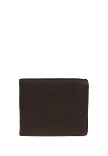 Santa Barbara Polo & Racquet Club brown Santa Barbara Polo & Racquet Club Leather Bifold Wallet 7B133AC9FDE1FBGS_1