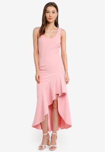 Bardot pink Esther Frill Dress 70A93AA108C10DGS_1