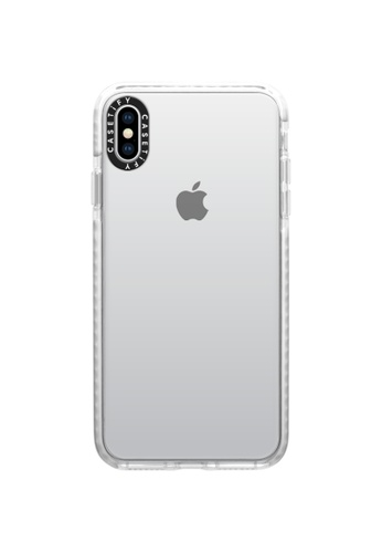 Casetify white Impact Protective Clear Case for iPhone XS Max – Frost 23B00AC9442E3FGS_1