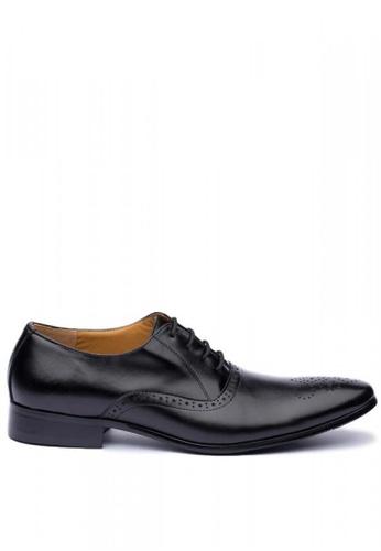 Kings Collection black Enrico Leather Shoes AF45CSHA6217E8GS_1